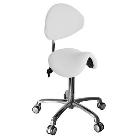 Martini Werkstoel Buddy met rug wit (Kiss)