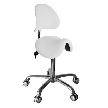 Martini Werkstoel Buddy met rug wit (Lende)