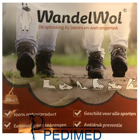 WandelWol bruin (Alpaca) 20 gram