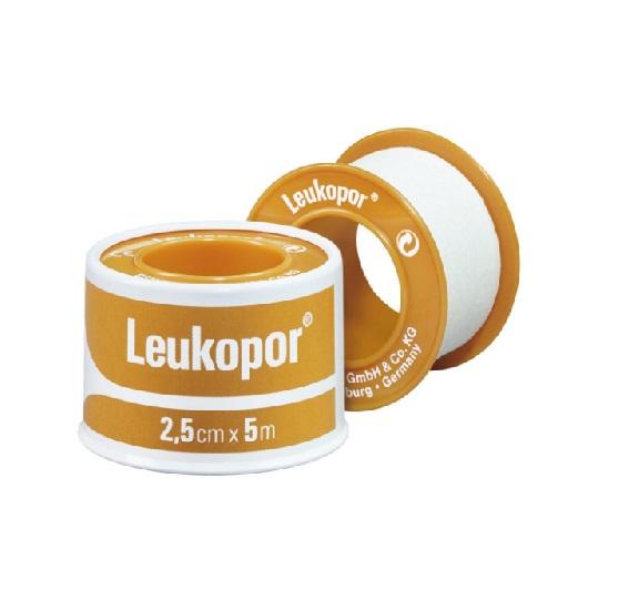 Leukopor 9,2 mtr x 2.5 cm per rol