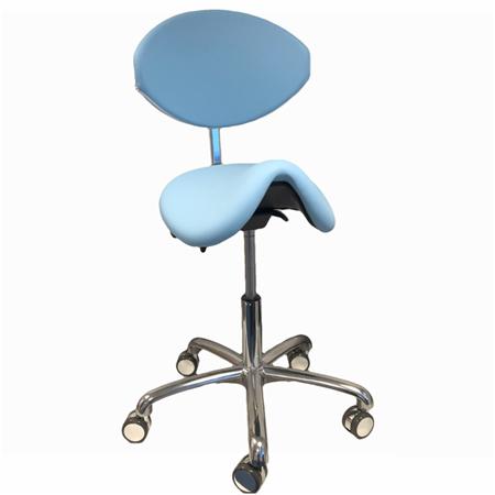 Martini Werkstoel Buddy SOFT met rug (Lende) blauw