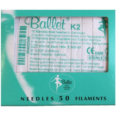 Balletnaalden K2 (50 stuks)