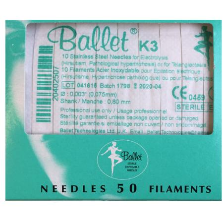 Balletnaalden K3 (50 stuks)