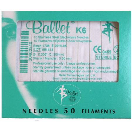 Balletnaalden K6 (50 stuks)