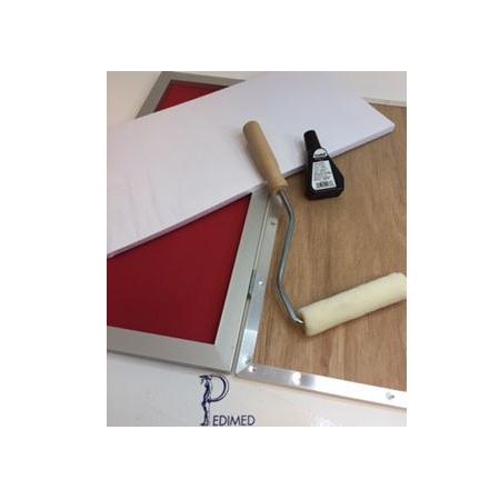 Blauwdrukraam set (raam+papier+roller+inkt)