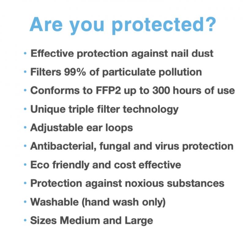 mondkap, podopro, pedicure, groothandel, pedimed, veiligheid, virus, besmetting voorkomend, protected