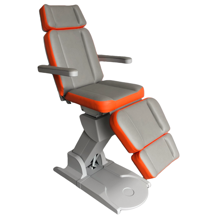 Beauty treatmentchair Grey-Orange (F4340_07432-F4340_20280),beauty,groothandel,pedimed