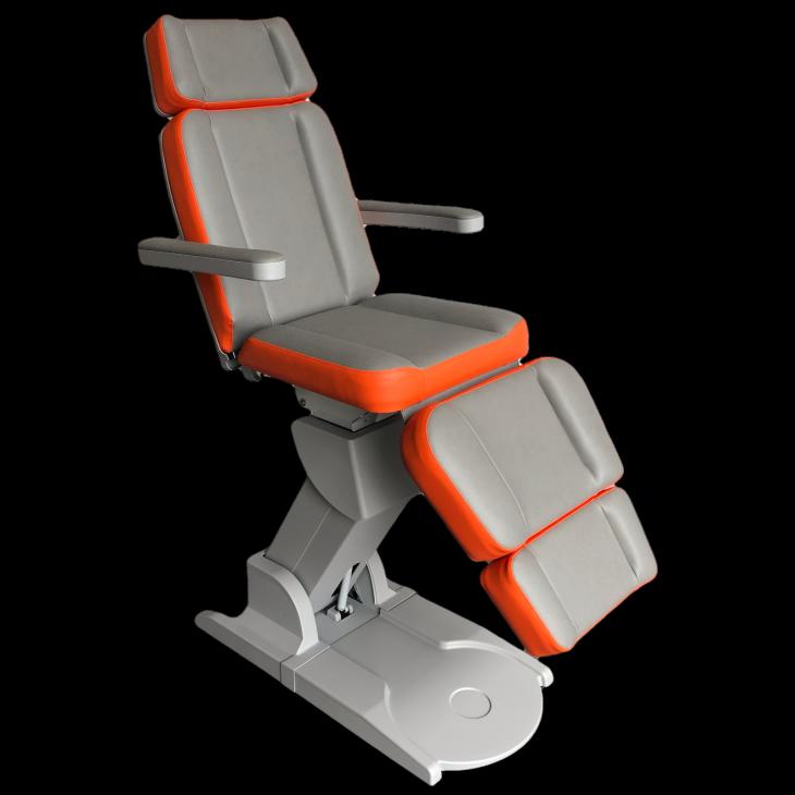 Beauty treatmentchair Grey-Orange (F4340_07432-F4340_20280),beauty,groothandel,pedimed